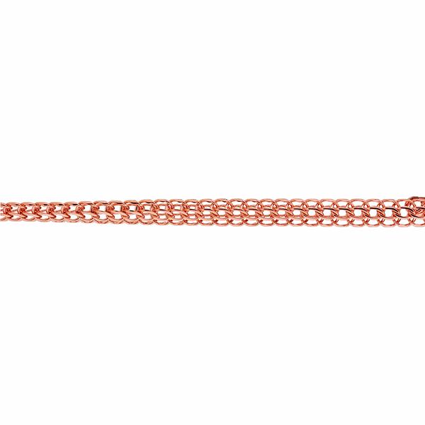Цепь, плетение Каприз с алмазной гранью 6-ти сторон, 6 мм