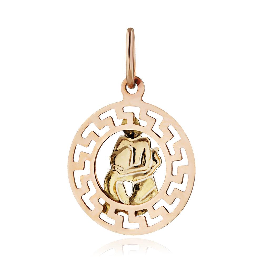 Подвеска из золота, знак зодиака Водолей
