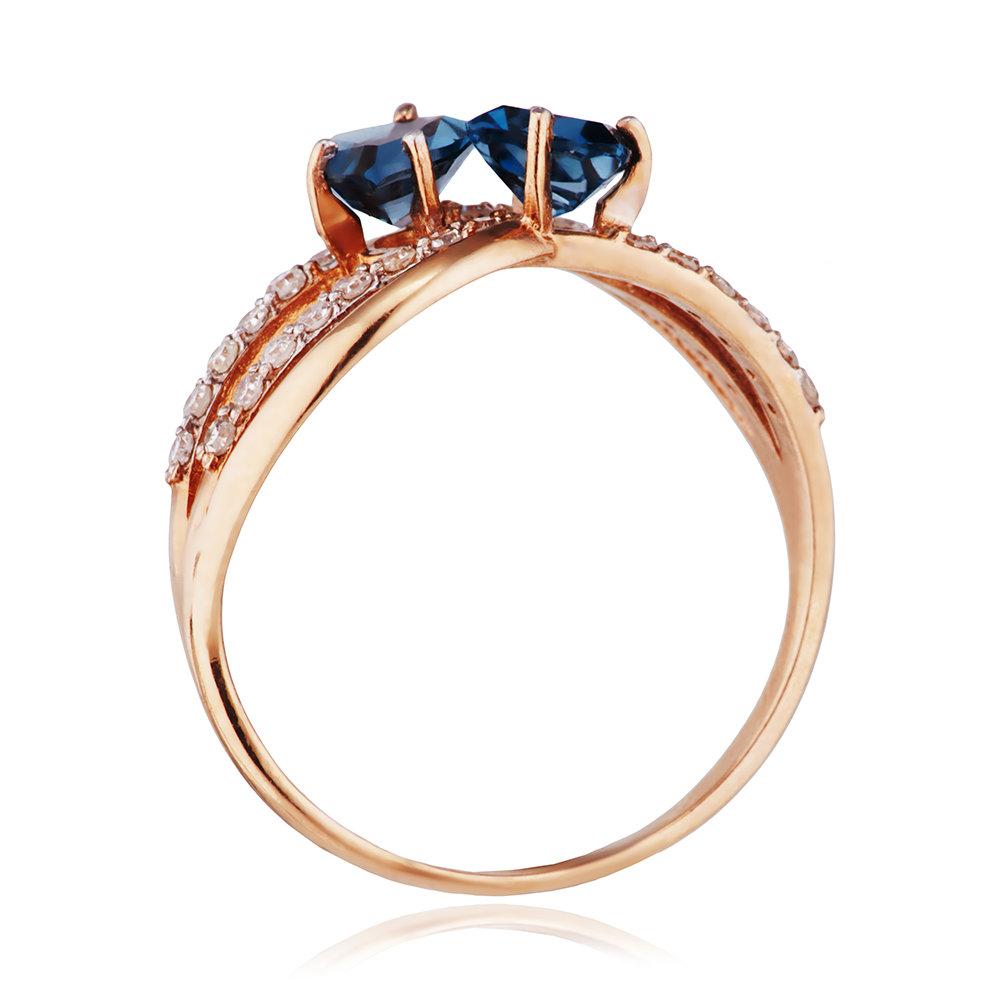 Кольцо с топазами London, бриллиантами и родированием