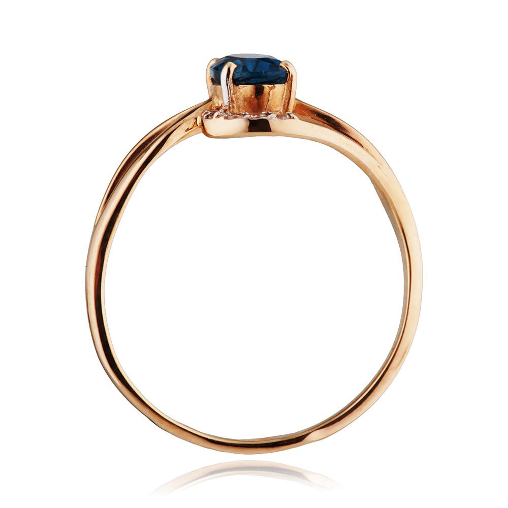 Кольцо с топазом london и фианитами
