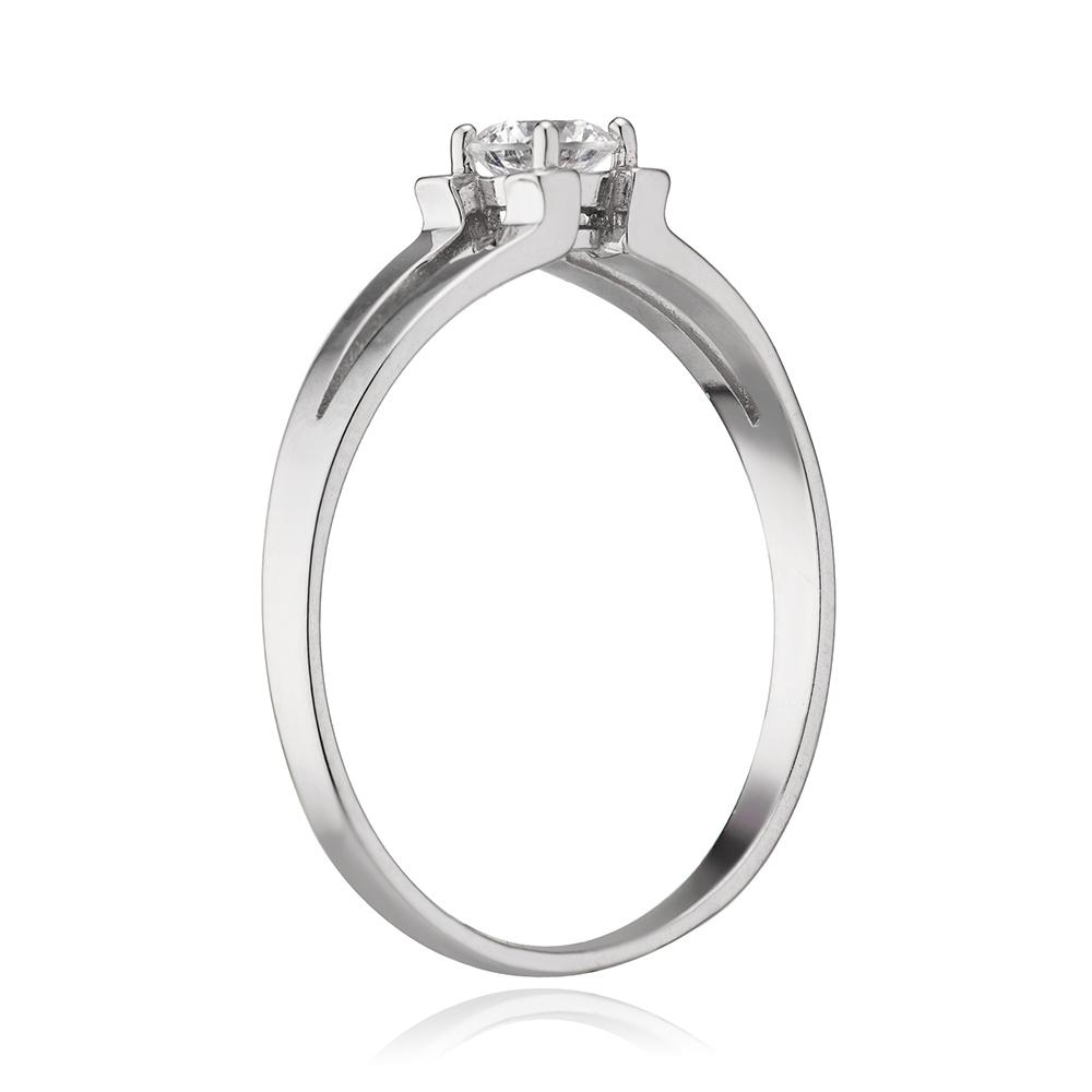 Кольцо с кристаллом SWAROVSKI из золота