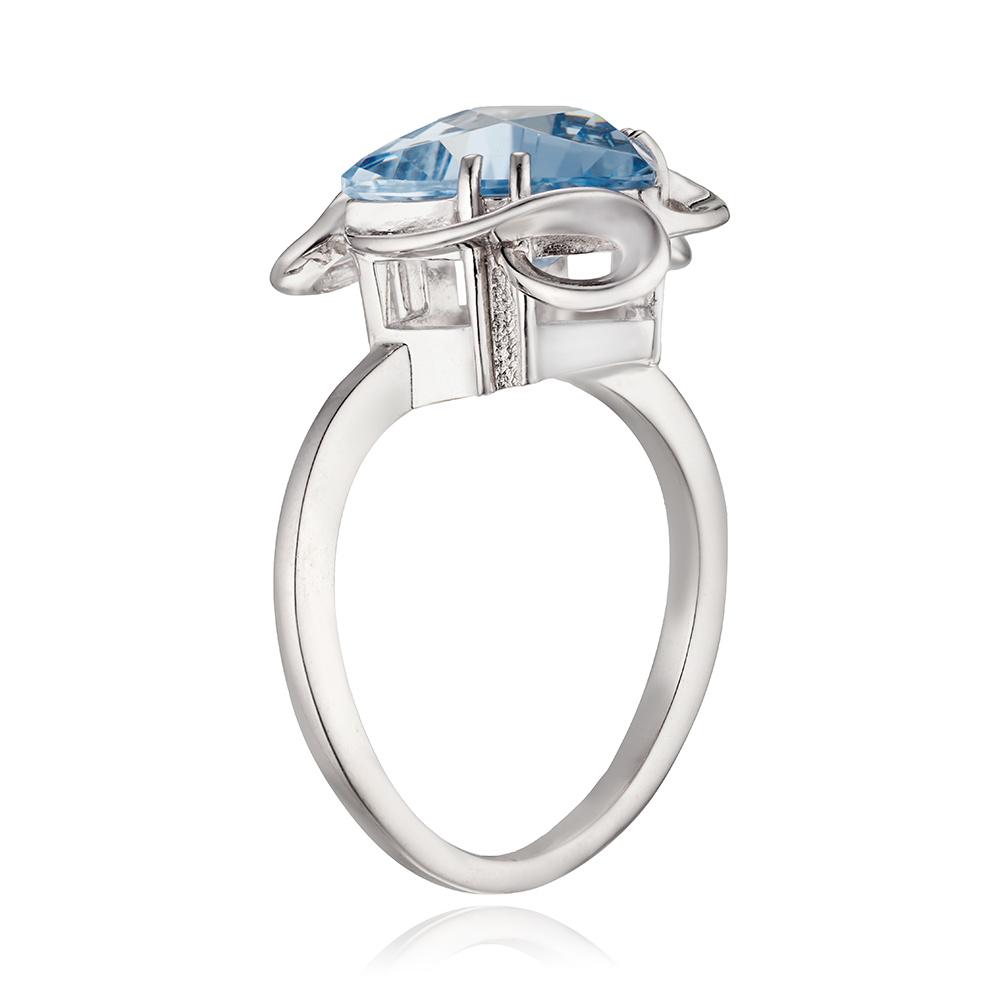 Кольцо с топазом из серебра