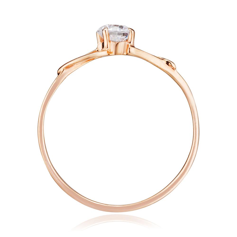 Кольцо с фианитом из золота