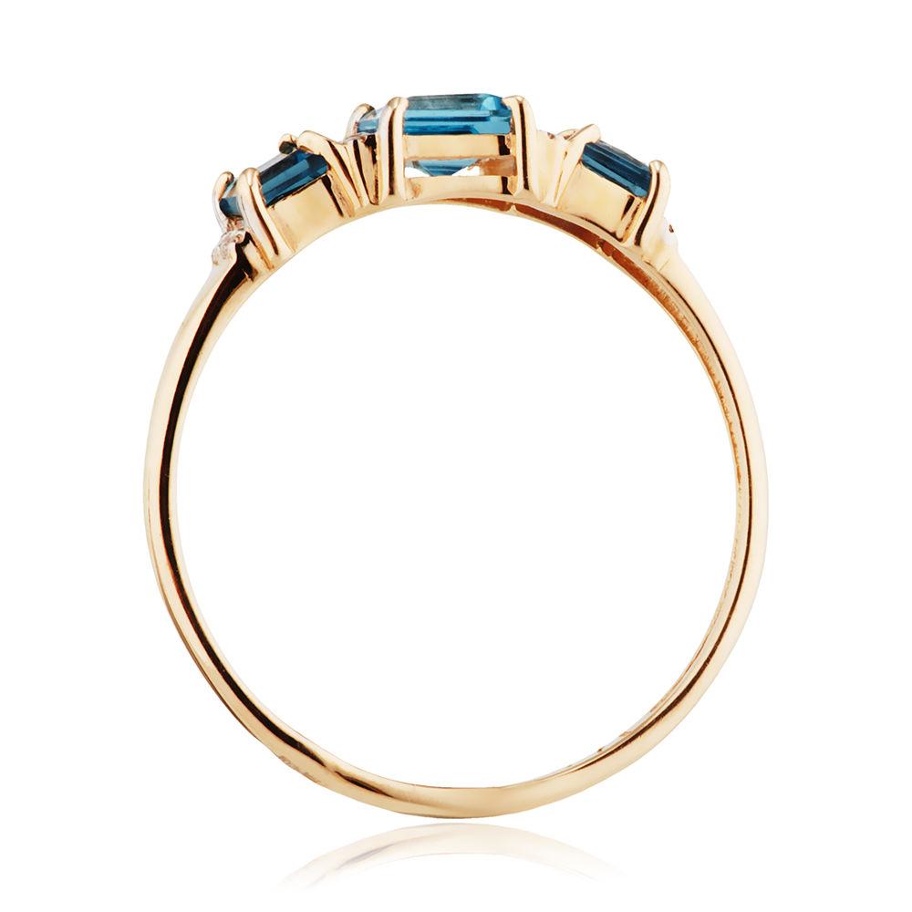Кольцо с топазами London и фианитами