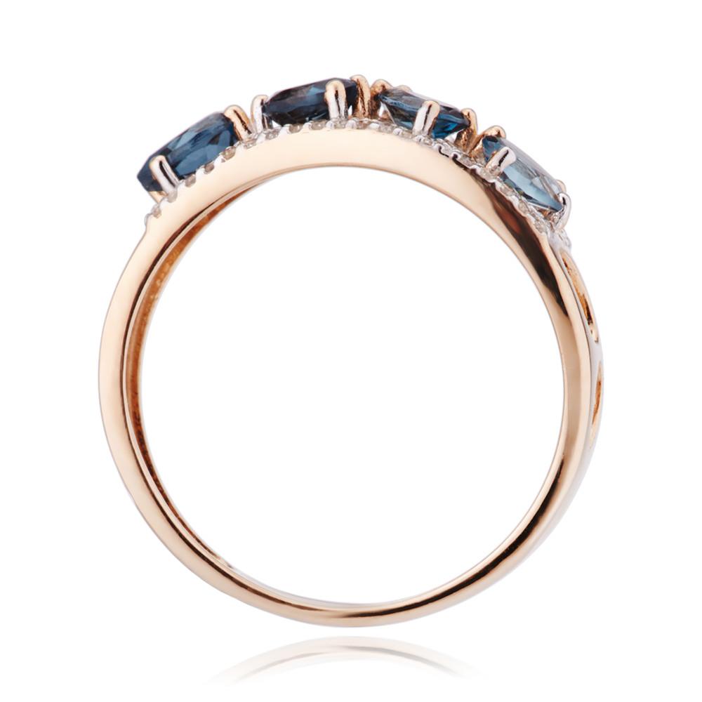 Кольцо с топазами London и бриллиантами