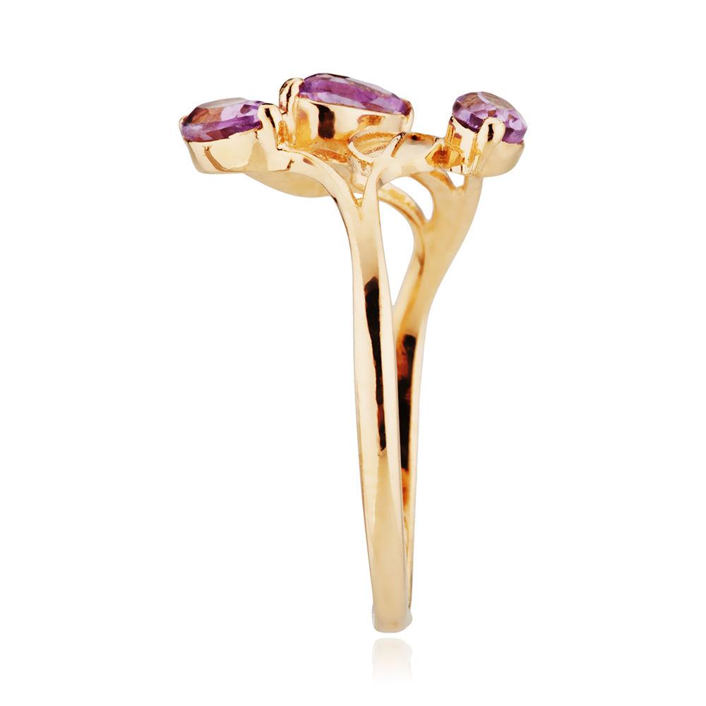 Кольцо с аметистами из золота