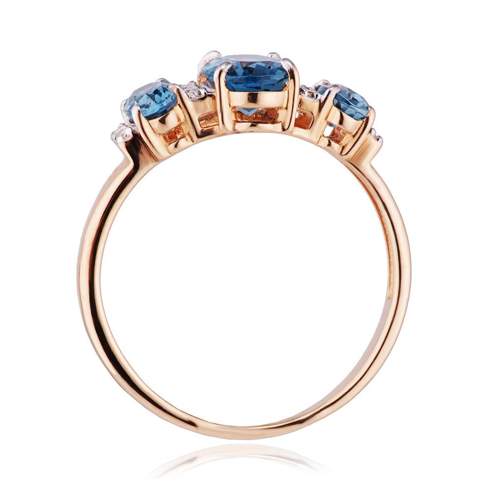 Кольцо с топазами и бриллиантами из золота