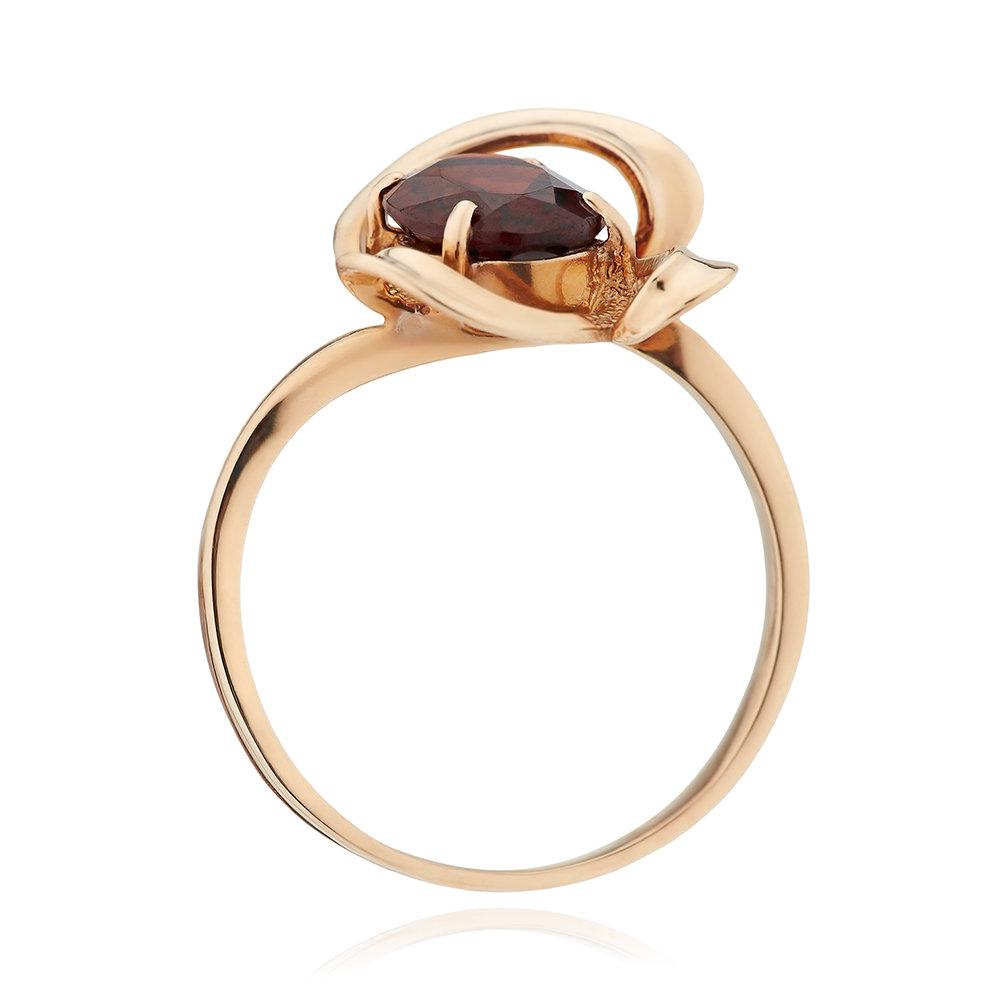 Кольцо из золота с гранатом