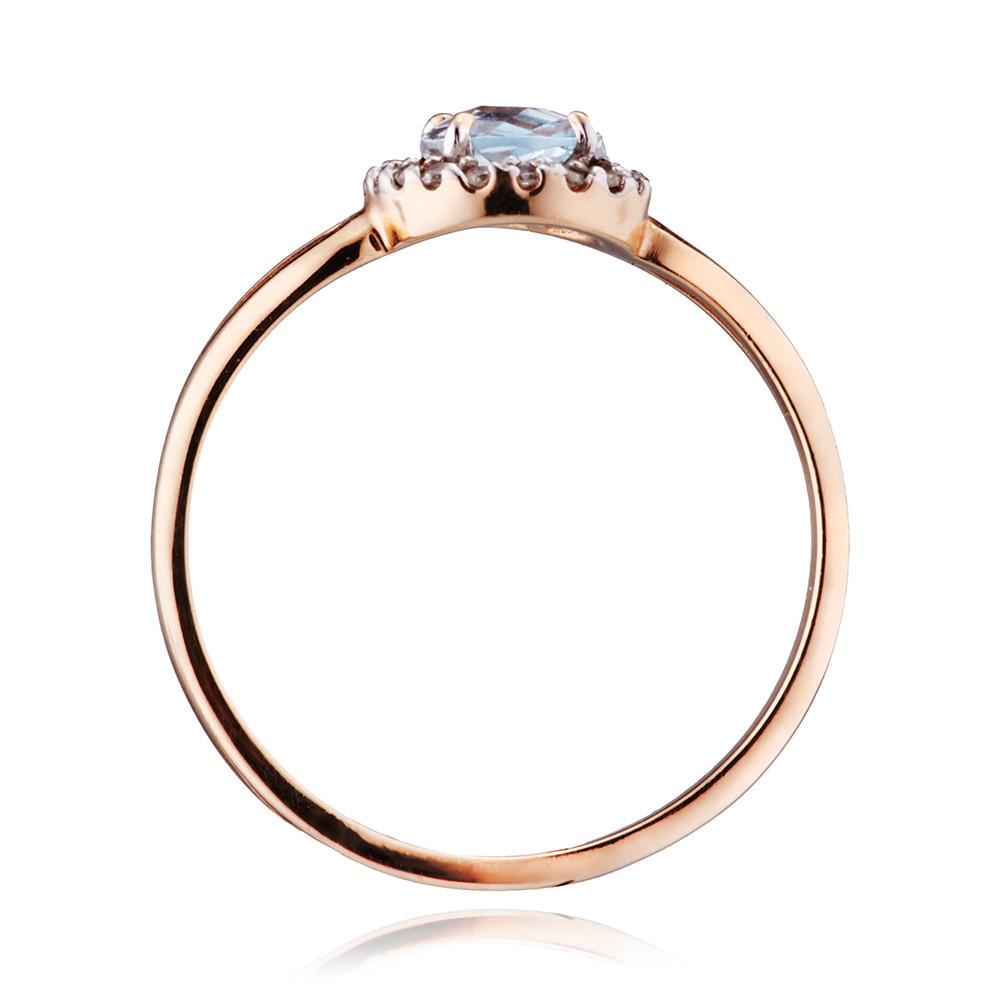 Кольцо с топазом и бриллиантами