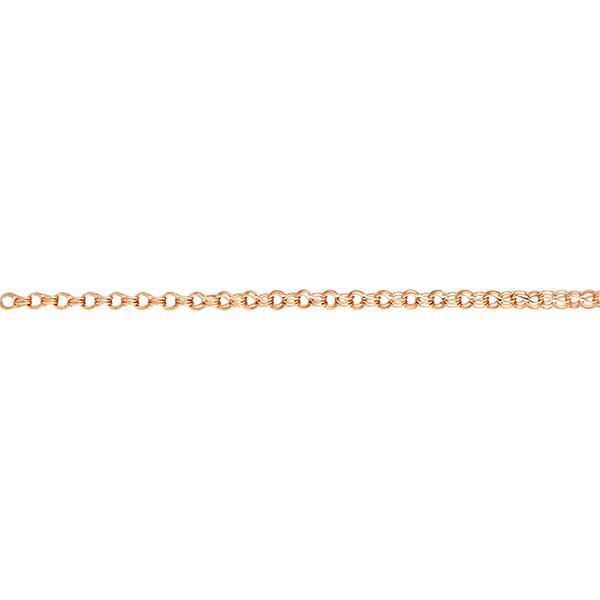 Браслет, плетение Двойной Гарибальди с алмазной гранью 2-х сторон, 6 мм