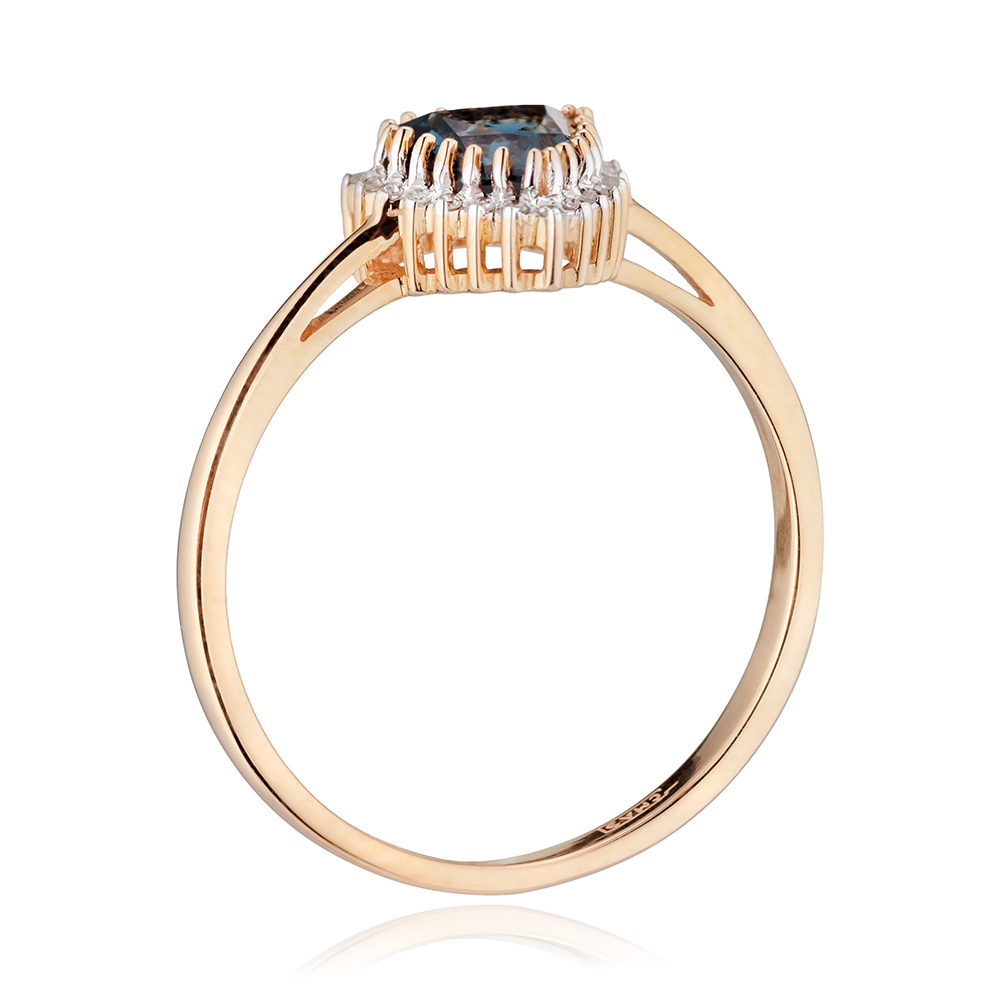 Кольцо с топазом London,бриллиантами и родированием