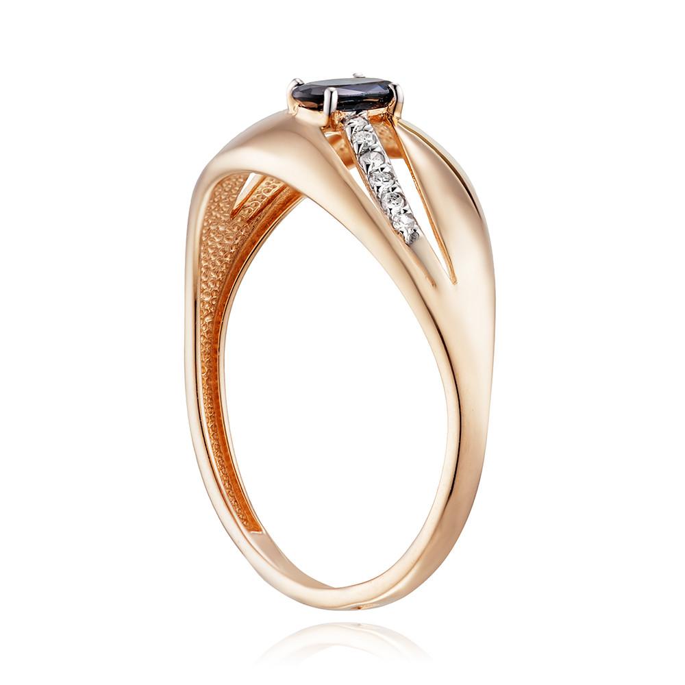 Кольцо с сапфиром (корунд) и бриллиантами
