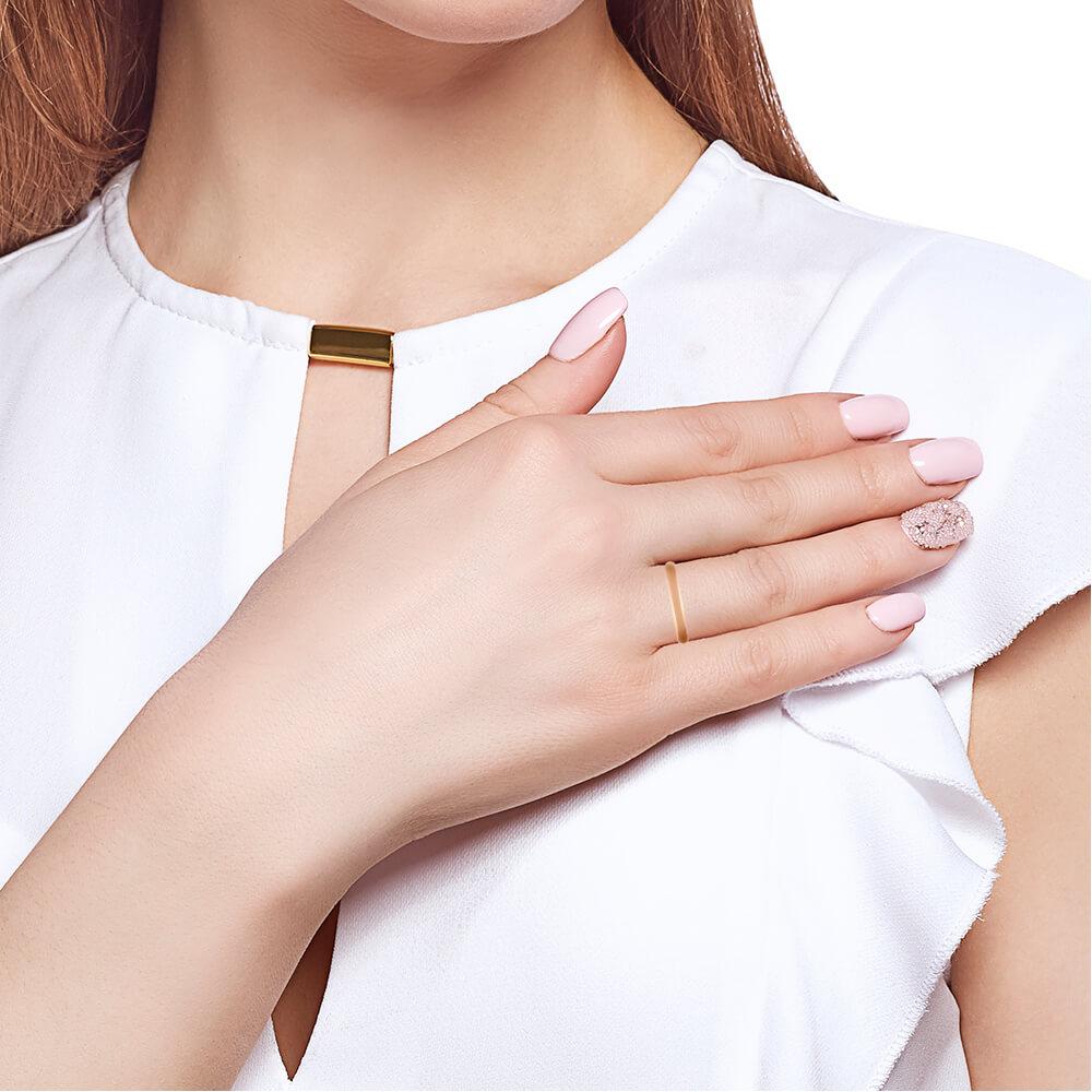 Кольцо обручальное гладкое, 3 мм