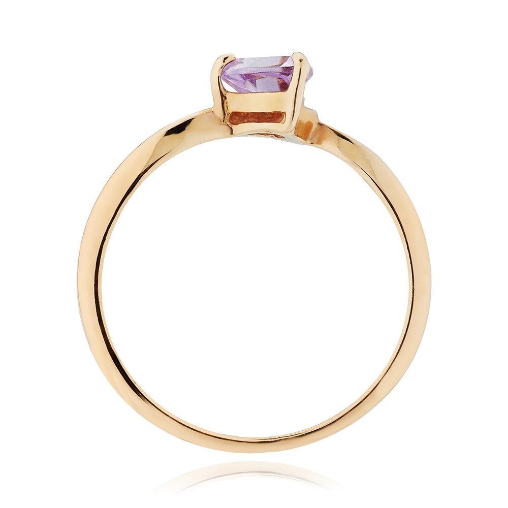 Кольцо из золота с аметистом
