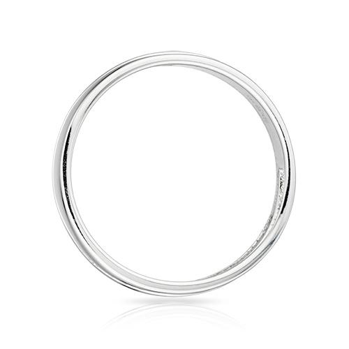 Кольцо обручальное с бриллиантами и родированием