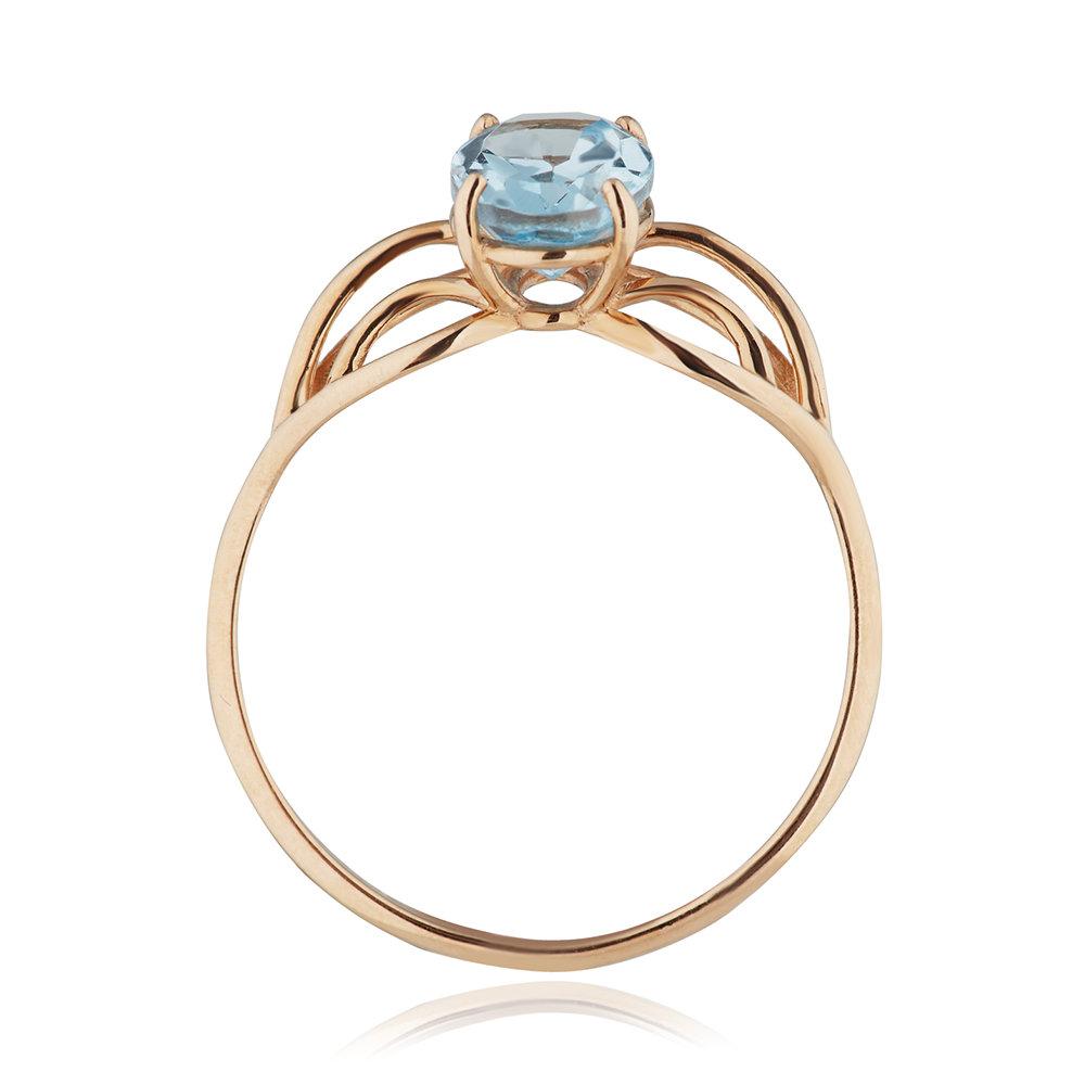 Кольцо с топазом из золота