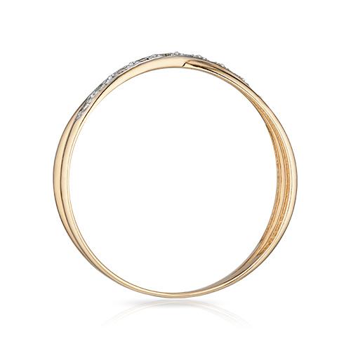 Кольцо с бриллиантами и родированием