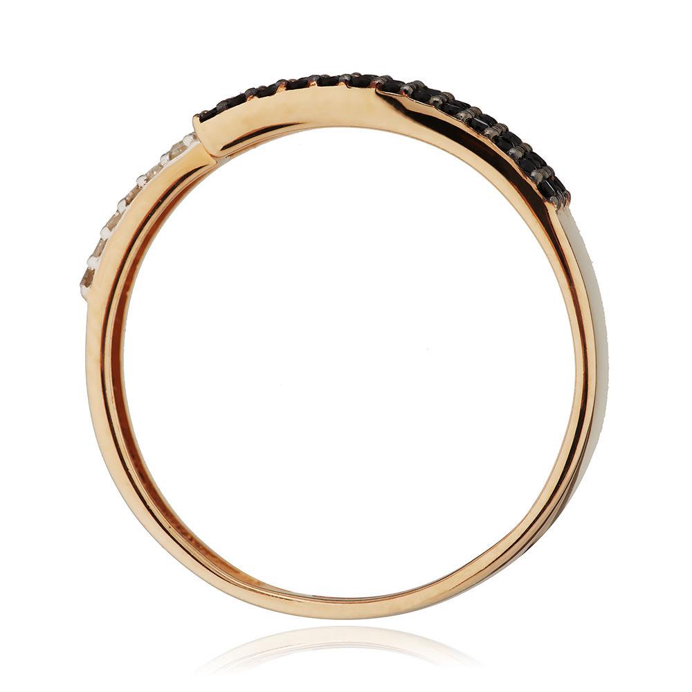 Кольцо с бриллиантами и шпинелью