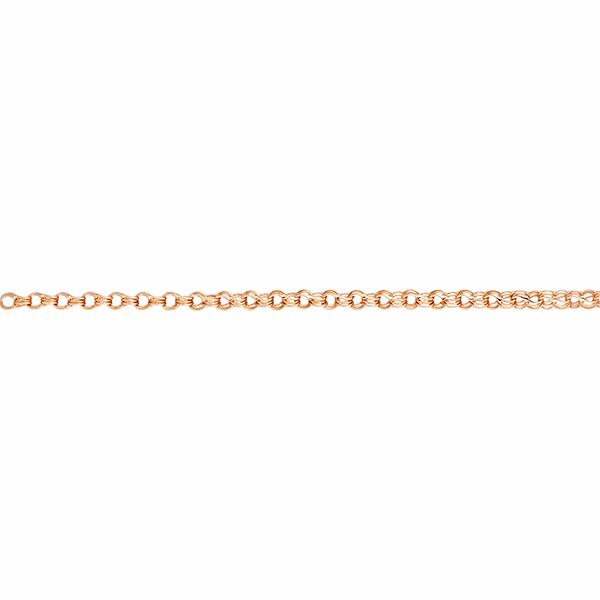 Цепь, плетение Двойной гарибальди с алмазной гранью 2-х сторон, 6 мм