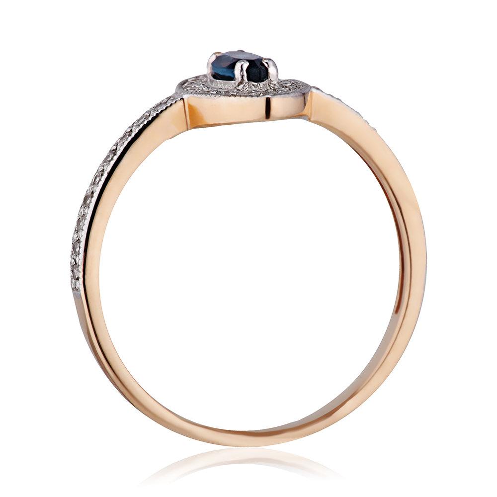 Кольцо с топазом London и бриллиантами