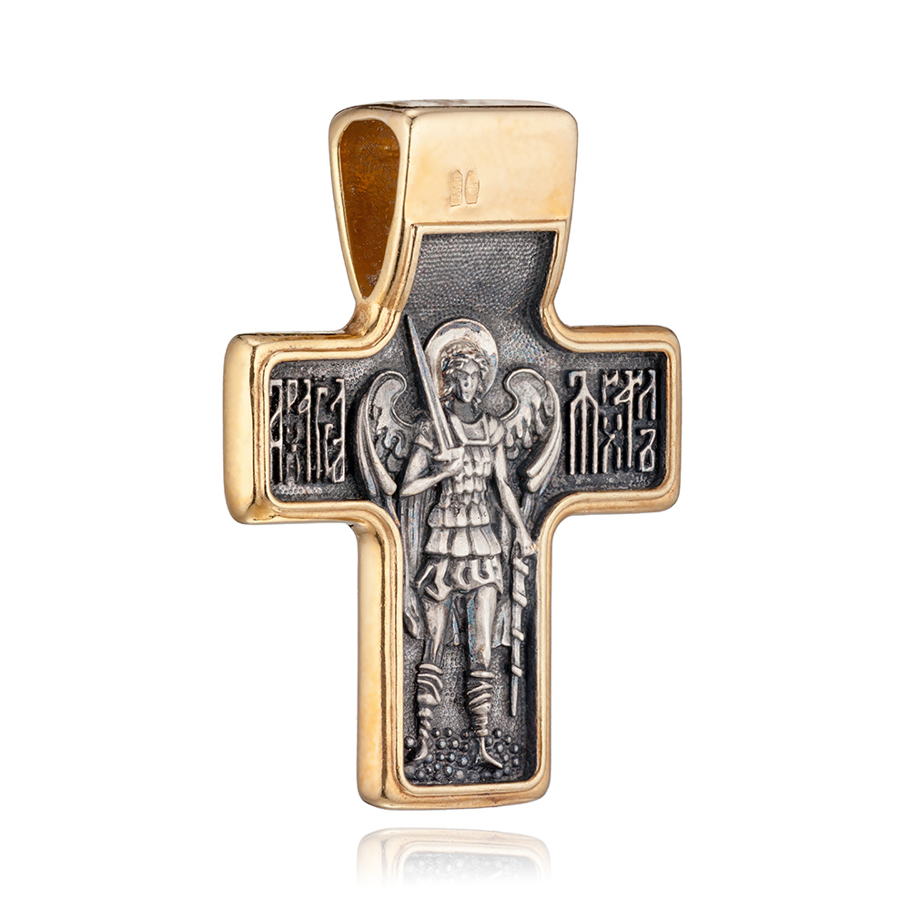 Крест из серебра с позолотой