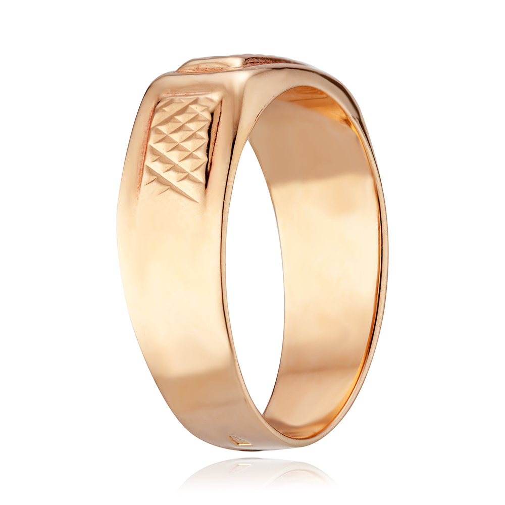 Кольцо-печатка с алмазной гранью