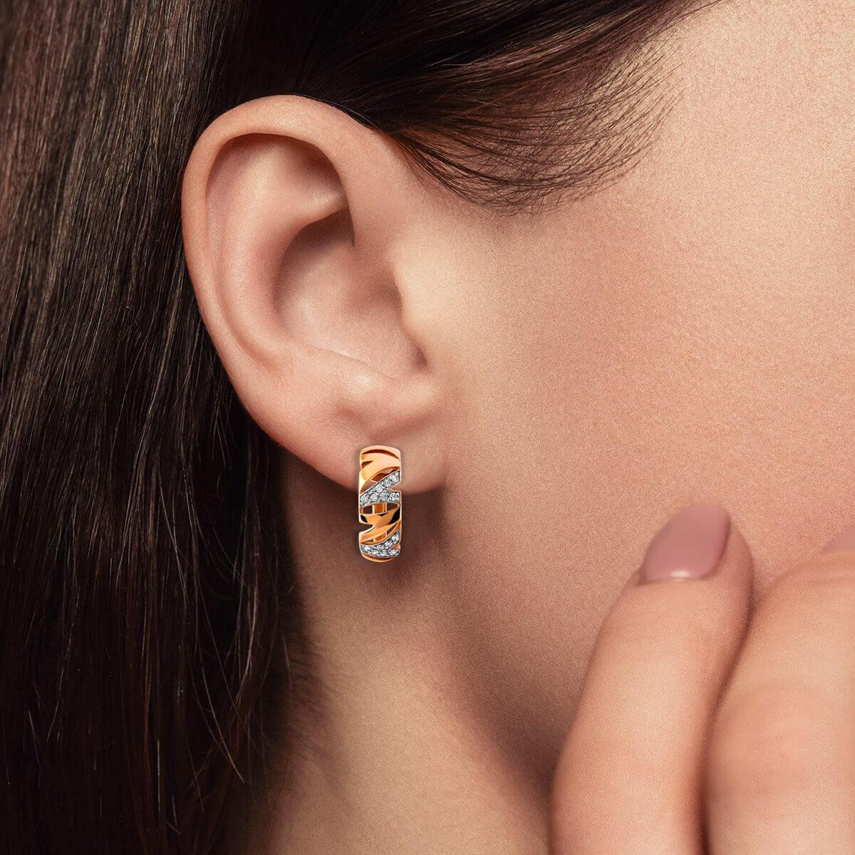Серьги с бриллиантами из золота