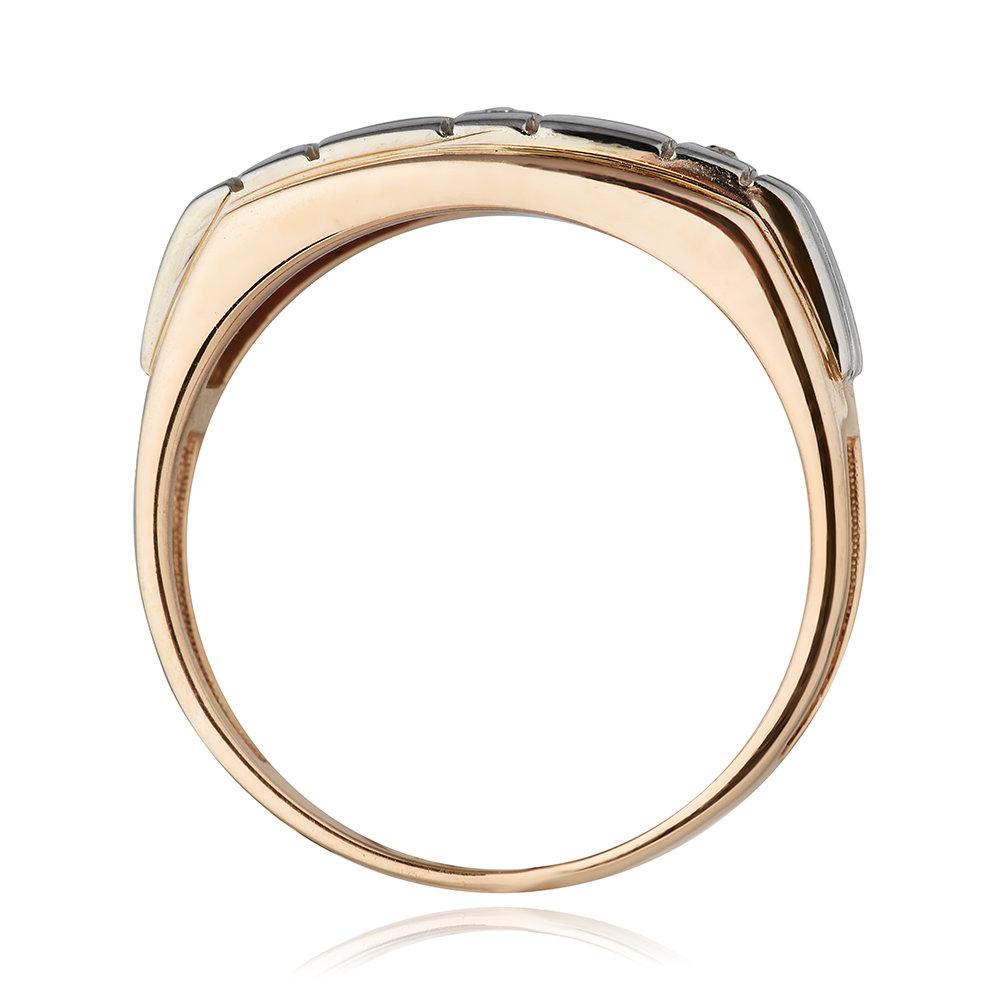 Кольцо - печатка с бриллиантами