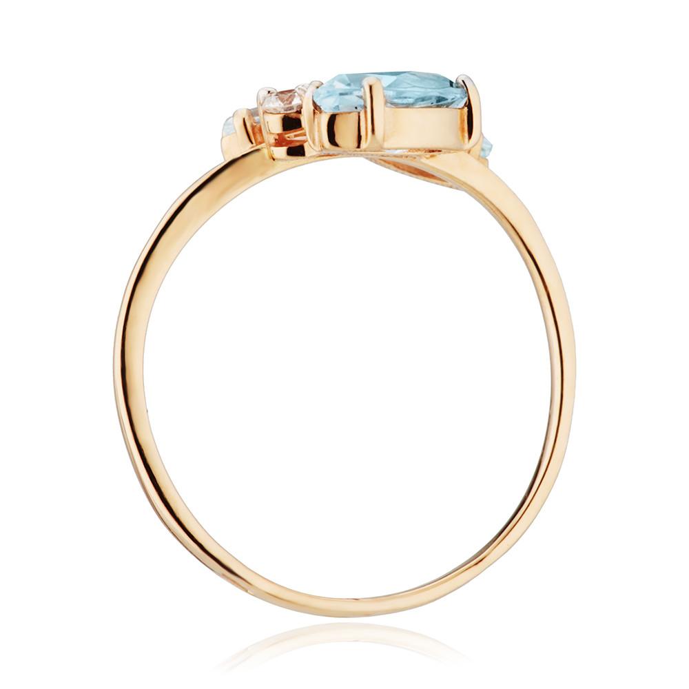 Кольцо с топазами Sky и бриллиантом