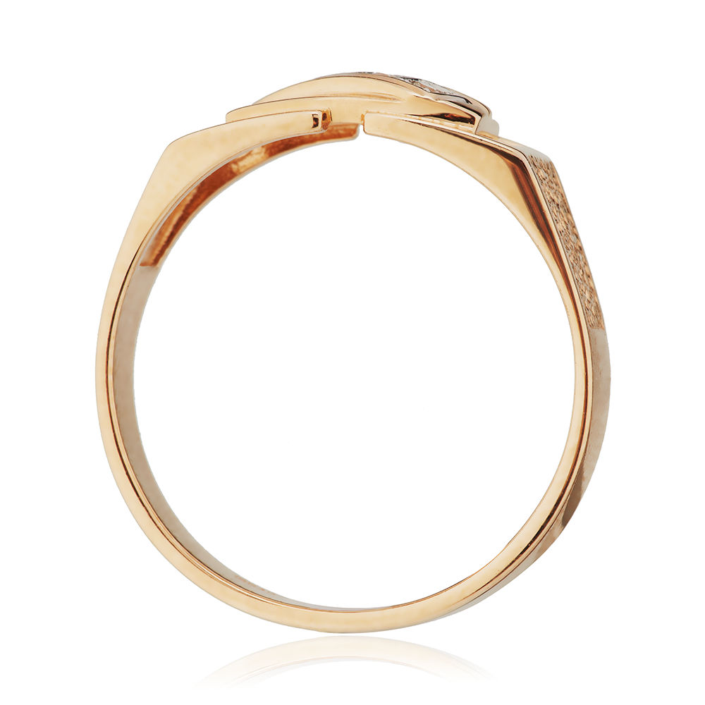 Кольцо-печатка с бриллиантами
