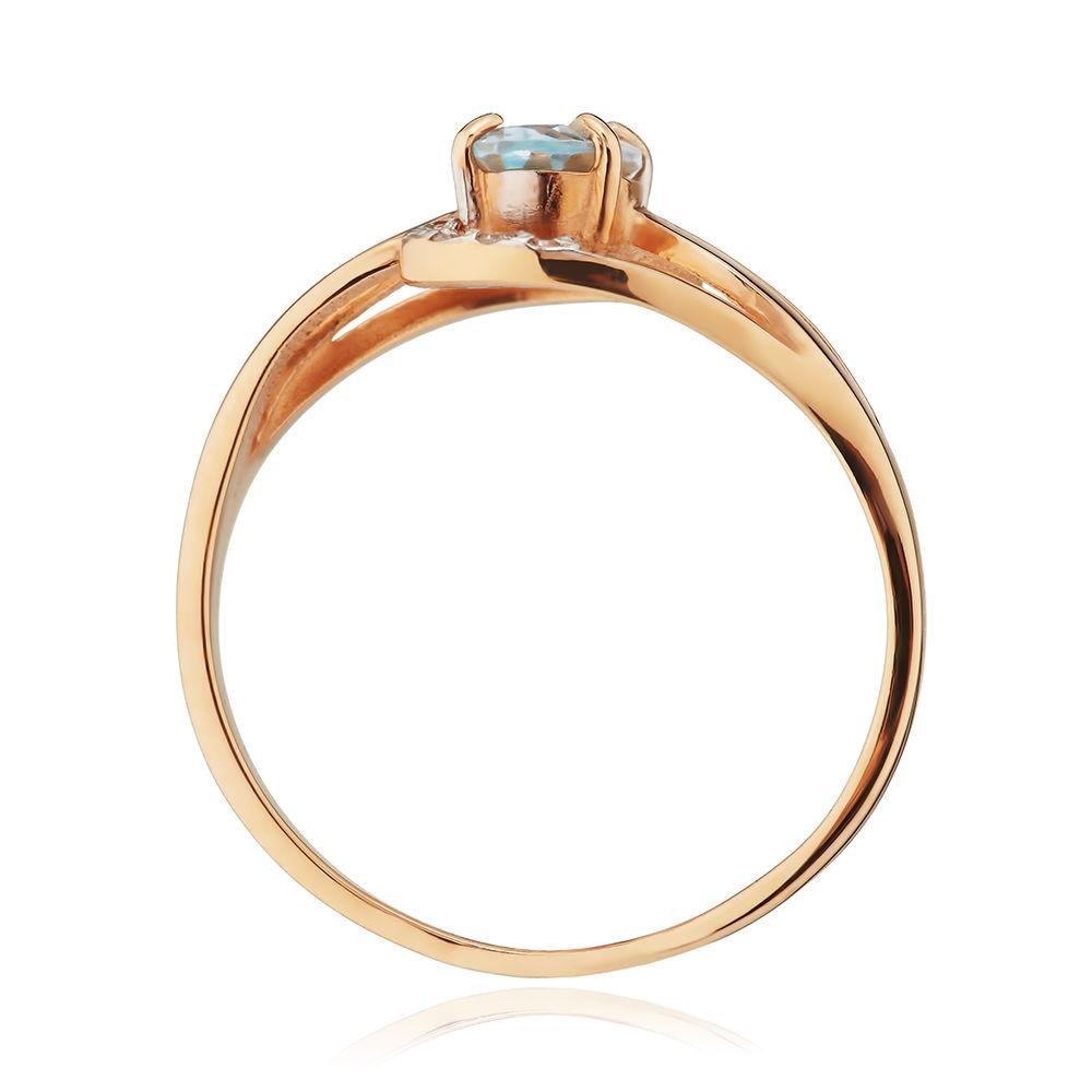 Кольцо из золота с топазом и бриллиантами
