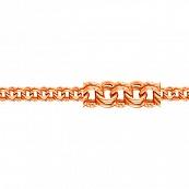 Браслет, плетение Бисмарк с декоративной отделкой, 5 мм