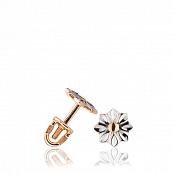 Серьги-пусеты с алмазной гранью и родированием