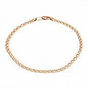 Золотой браслет с алмазной гранью, плетение двойной Ромб