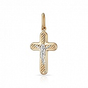 Крестик с алмазной гранью и родированием